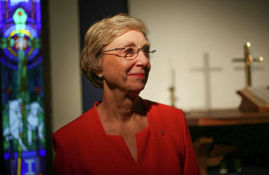 Janice Huie, the outgoing bishop for the Methodist Texas Annual Conference, the jurisdiction of churches in southeast Texas in her office on Monday, July 18, 2016, in Houston. ( Elizabeth Conley / Houston Chronicle ) Photo: Elizabeth Conley, Staff / © 2016 Houston Chronicle