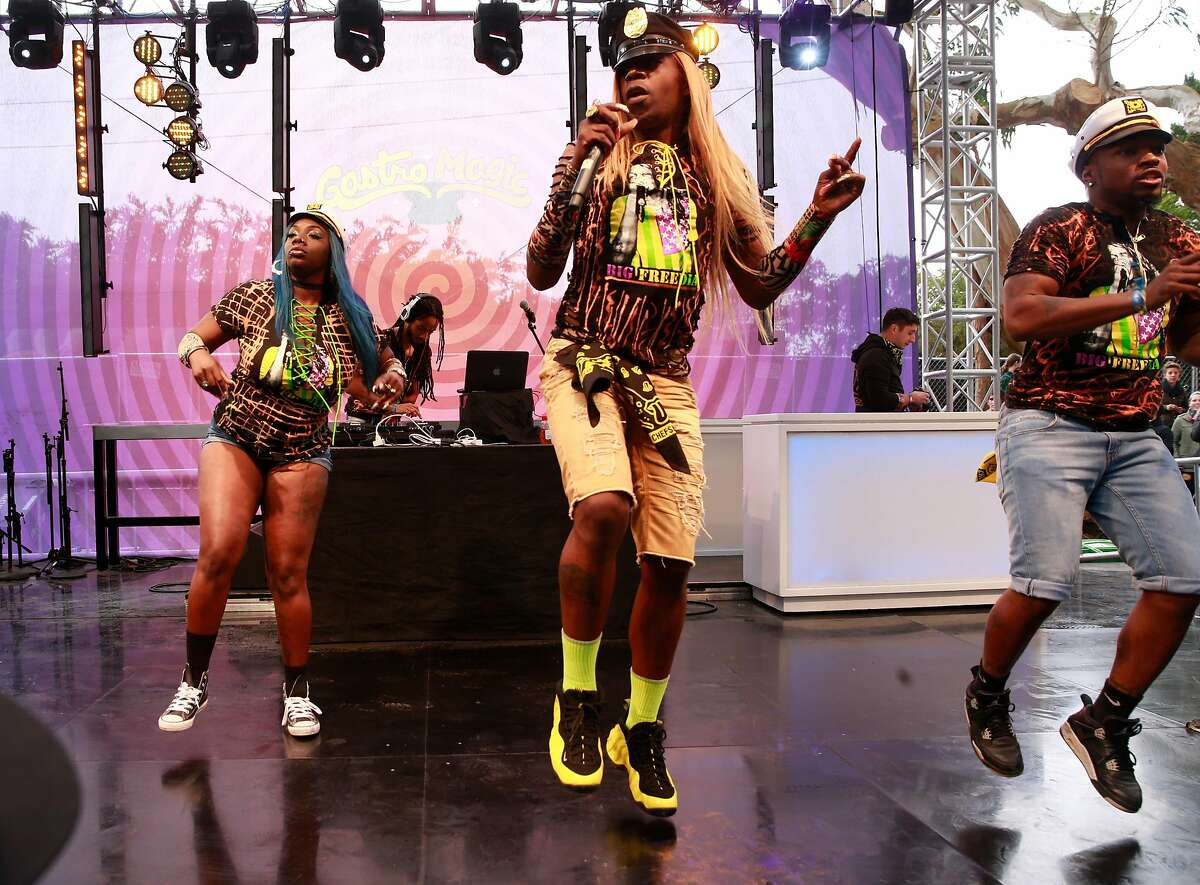 The performance of Big Freedia and Brenda's Soul Food on the GastroMagic stage at Outside Lands 2017