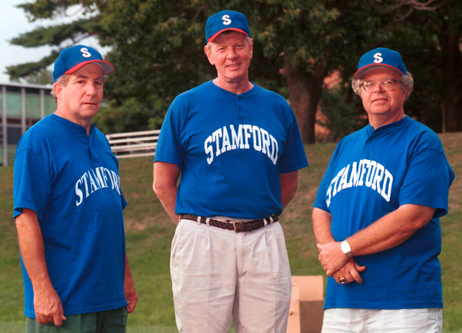 Stamford_081099_ Stamford Sr. Babe Ruth All-Star coaches Mike Saccardi, Mike Walsh, and Tracy Nichols. Mark Conrad/Staff Photo Photo: ST