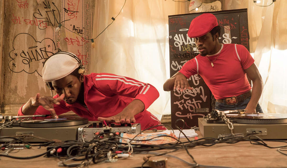 """Mamoudou Athie as Grandmaster Flash and Sha meik Moore as Shaolin Fantastic in """"The Get Down."""""""