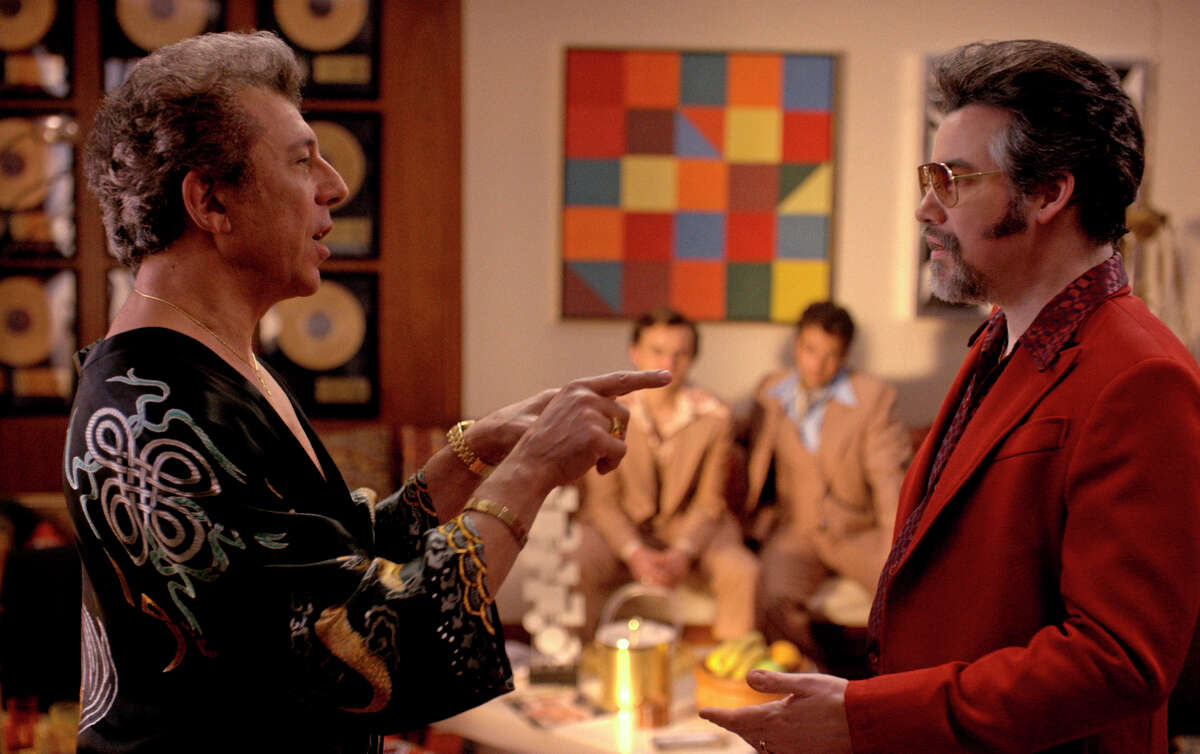 """The musical revolution is told through the stories of youth, top, in """"The Get Down,"""" with Eric Bogosian (above, left) as a record label chief and Kevin Corrigan as a producer."""
