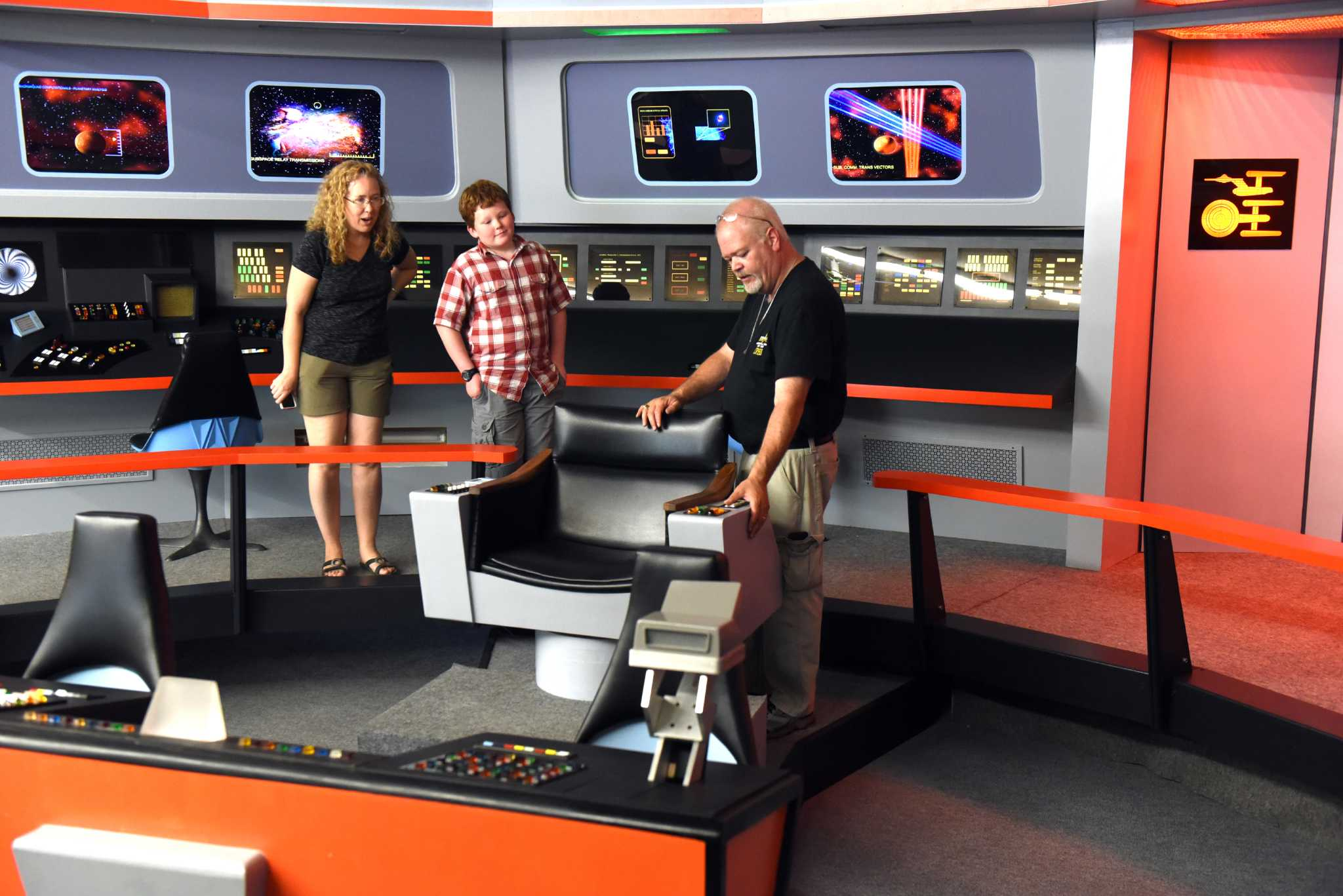 Replica of Star Trek's U S S  Enterprise boldly goes into