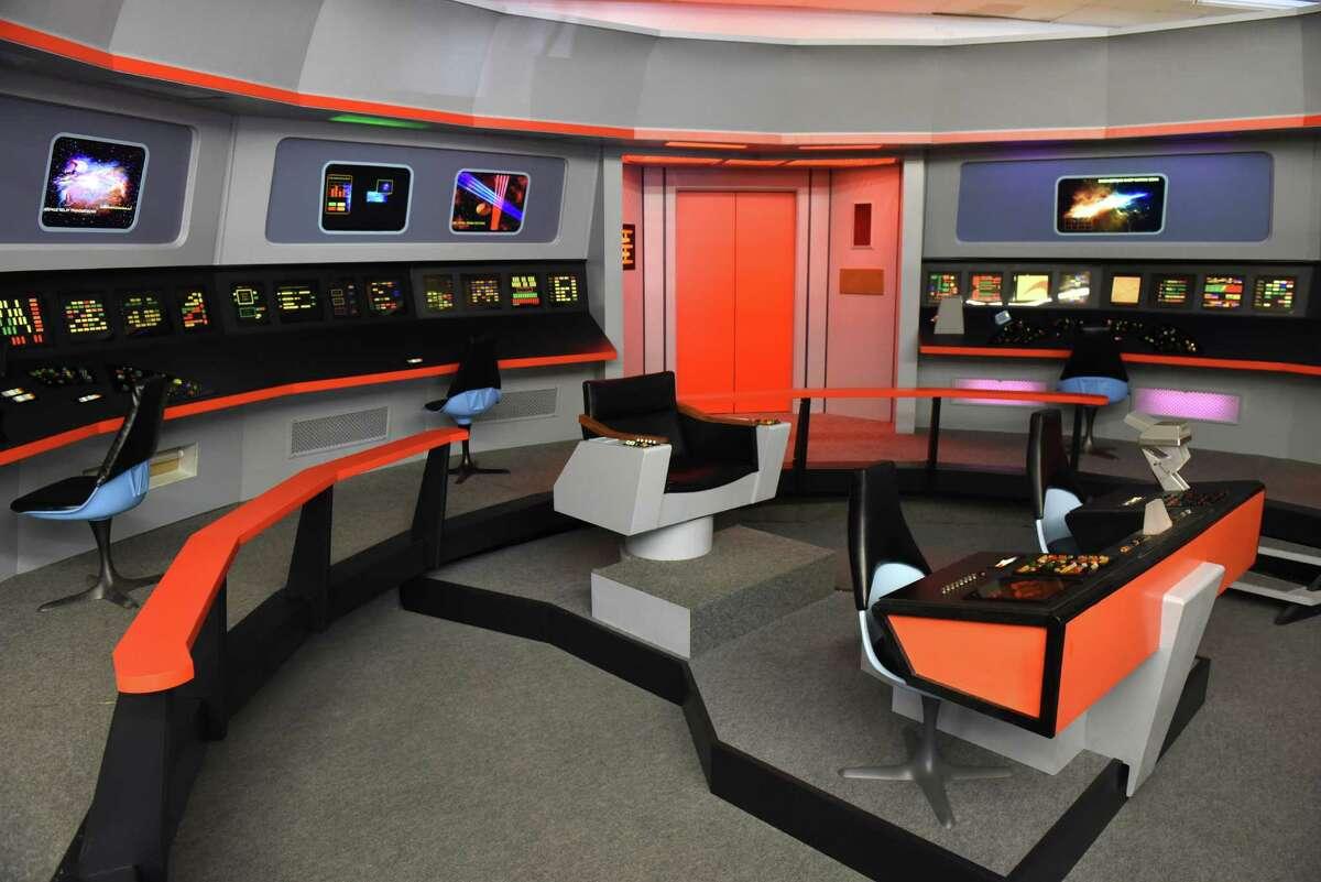 To scale replica bridge at the Star Trek set on Thursday Aug. 4, 2016 in Ticonderoga, N.Y. (Michael P. Farrell/Times Union)