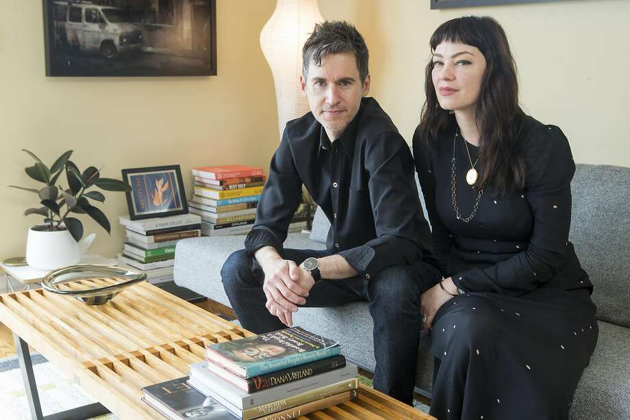 Kelly Waters and Peter Judd in the living room of their Potrero Hill apartment. Photo: Beck Diefenbach, Special To The Chronicle