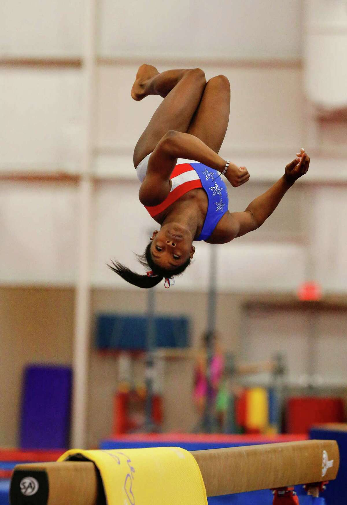 Coach Aimee Boorman says Olympic gymnast Simone Biles has an athlete's finely tuned brain/body connection.