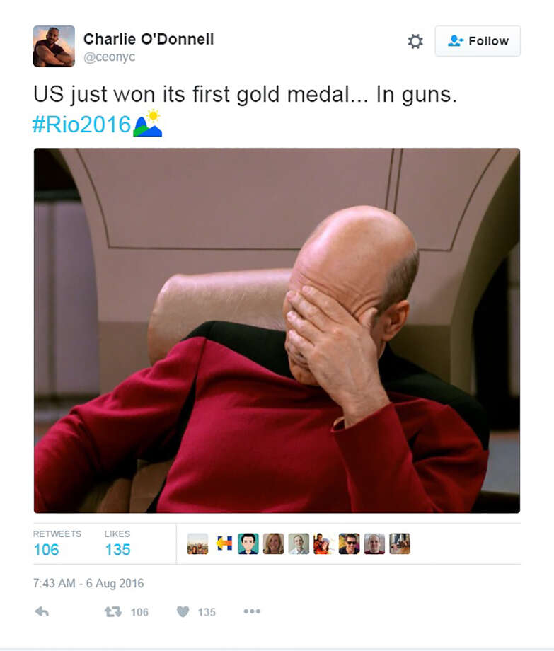 Twitter trolls hound U.S. Olympian for winning gold medal in shooting competition. Photo: Twitter Screen Grab
