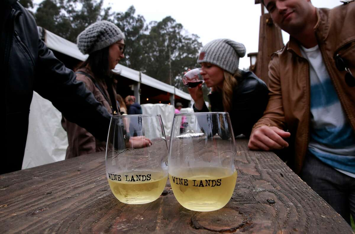 Visitors to Wine Lands during day two of the Outside Lands Music Festival in Golden Gate Park in San Francisco, California, on Sat. Aug. 6, 2016.
