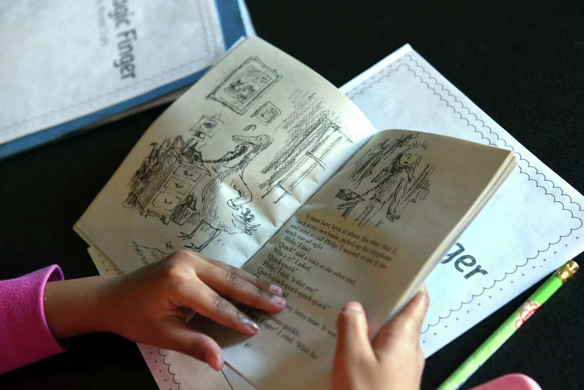 Third grade students read The Magic Finger by Roald Dahl in a special education summer school class at Goff Middle School on Friday Aug. 5, 2016 in East Greenbush, N.Y. (Michael P. Farrell/Times Union)