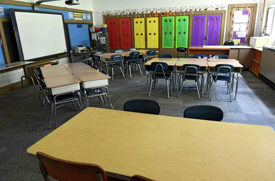 Classroom in Sacandaga Elementary School on Thursday, Aug. 4, 2016 in Scotia, N.Y. Scotia-Glenville had the most-improved scores in both ELA and math since kids were first tested on Common Core in 2013. (Lori Van Buren / Times Union) Photo: Lori Van Buren / 20037555A