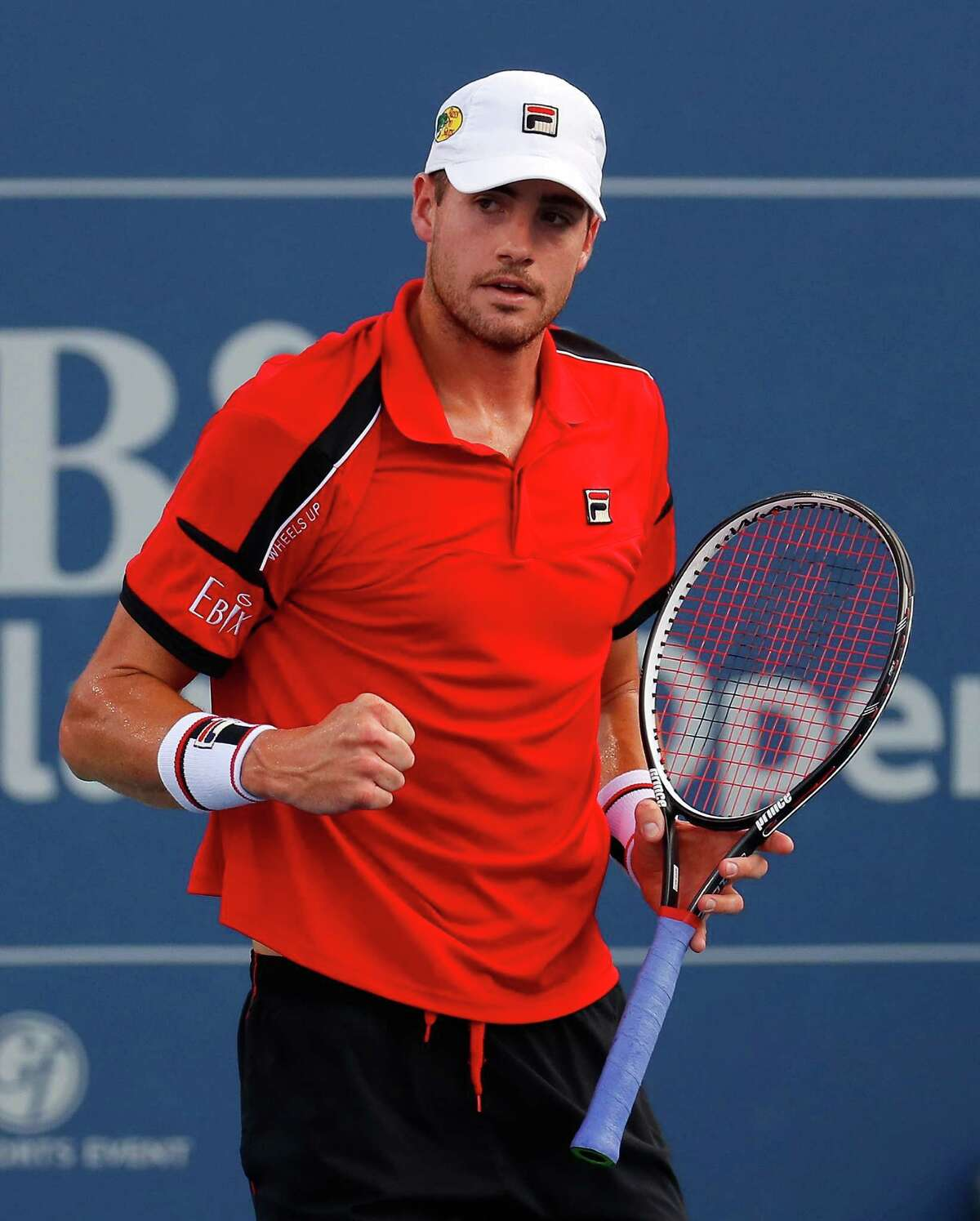 ATLANTA, GA - AUGUST 06: John Isner reacts in the match against Reilly Opelka during the BB&T Atlanta Open at Atlantic Station on August 6, 2016 in Atlanta, Georgia. (Photo by Kevin C. Cox/Getty Images) ORG XMIT: 634833525
