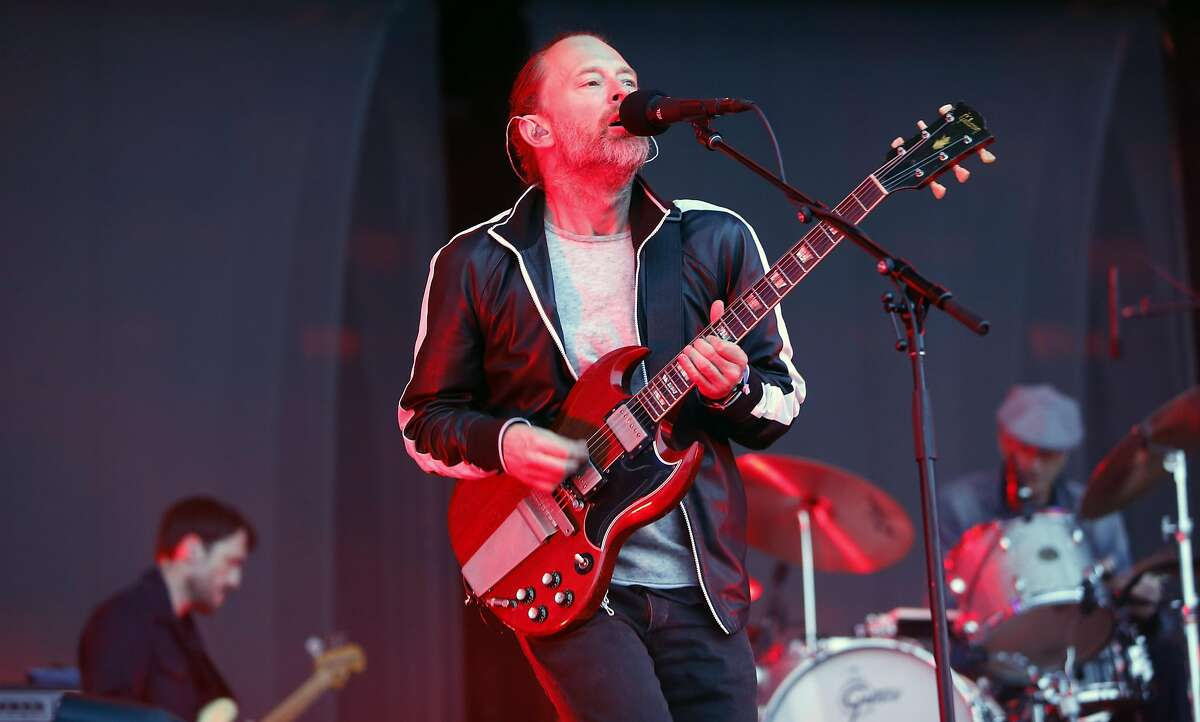 Tom Yorke of Radiohead as they play the Lands End stage during day two of the Outside Lands Music Festival in Golden Gate Park in San Francisco, California, on Sat. Aug. 6, 2016.