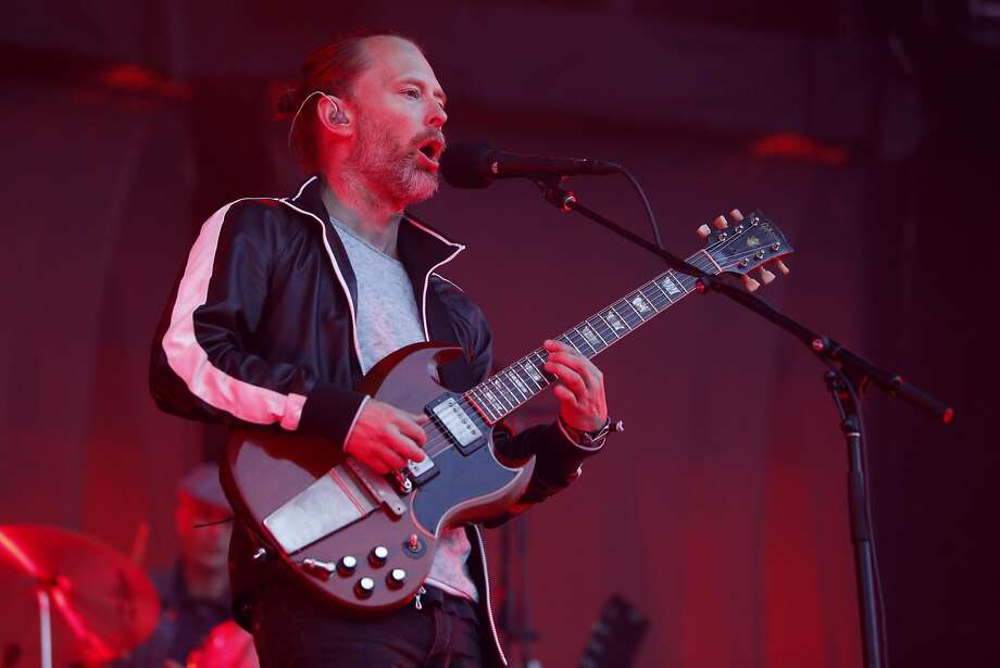 Thom Yorke of Radiohead as they play the Lands End stage during day two of the Outside Lands Music Festival in Golden Gate Park in San Francisco, California, on Sat. Aug. 6, 2016. Photo: Michael Macor, The Chronicle