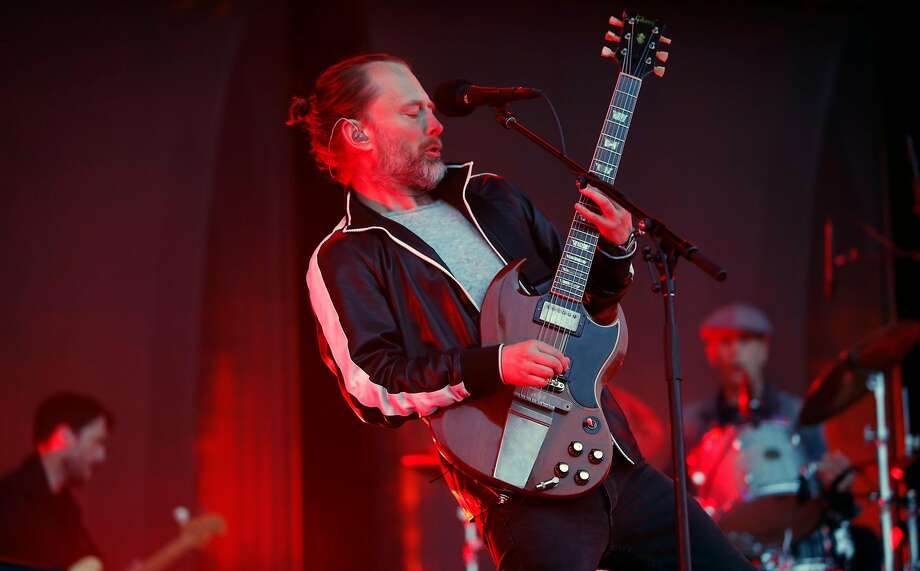 Thom Yorke of Radiohead as they play the Lands End stage during day two of the Outside Lands Music Festival in Golden Gate Park in San Francisco, California, on Sat. Aug. 6, 2016. Radiohead are among first-time nominees on the ballot for induction next year into the Rock and Roll Hall of Fame.See who else is nominated in 2017... Photo: Michael Macor, The Chronicle