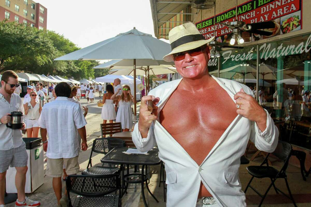 Phil Brayton at the White Linen Night in The Heights. (For the Chronicle/Gary Fountain, August 6, 2016)