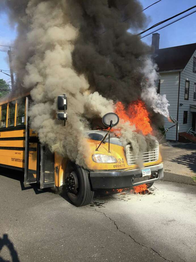 Danbury bus driver Kim Slosson, of Sandy Hook, was able to get the students off her bus safely when it caught fire a few weeks ago. Tuesday August 2, 2016, in Danbury, Conn. Photo: Ethan Kohley / Contributed Photo