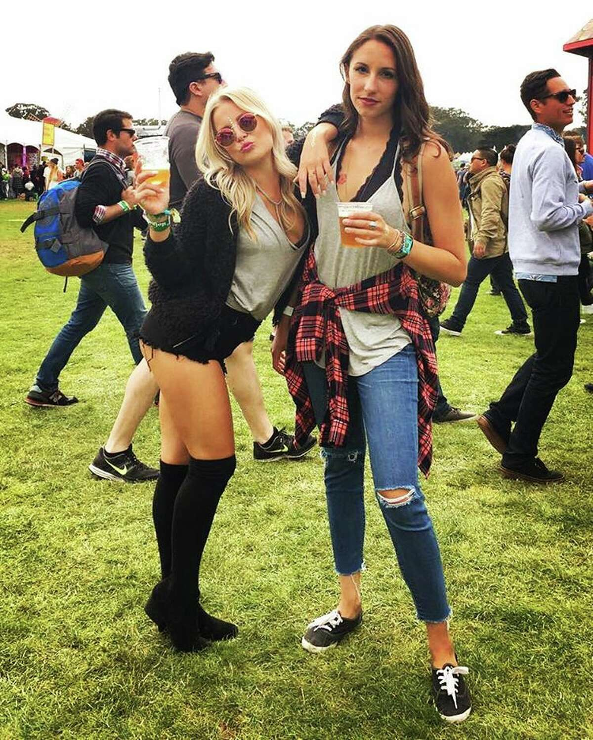 Outside Lands music festival goers show off their style during the three day event.