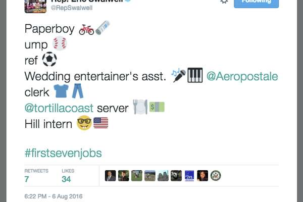 Twitter users shared their first 7 jobs they held, using the hashtags #first7jobs and #firstsevenjobs.