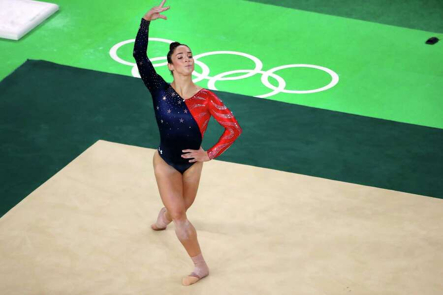 "Aly Raisman, 2012 Olympic gold medalist and 2016 Olympic team member:""We all tell her she needs to stop adding more difficulty because she's making it harder for everyone else. … She's kind of like Supergirl."" Photo: CHANG W. LEE, STF / NYTNS"