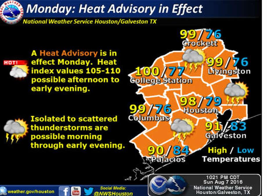 Heat Advisory Issued For Houston Region Houston Chronicle