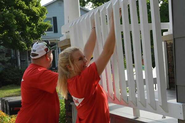 A scene from the fifth day of the 2016 Habitat for Humanity Neighborhood Revitalization Initiative on Aug. 5.