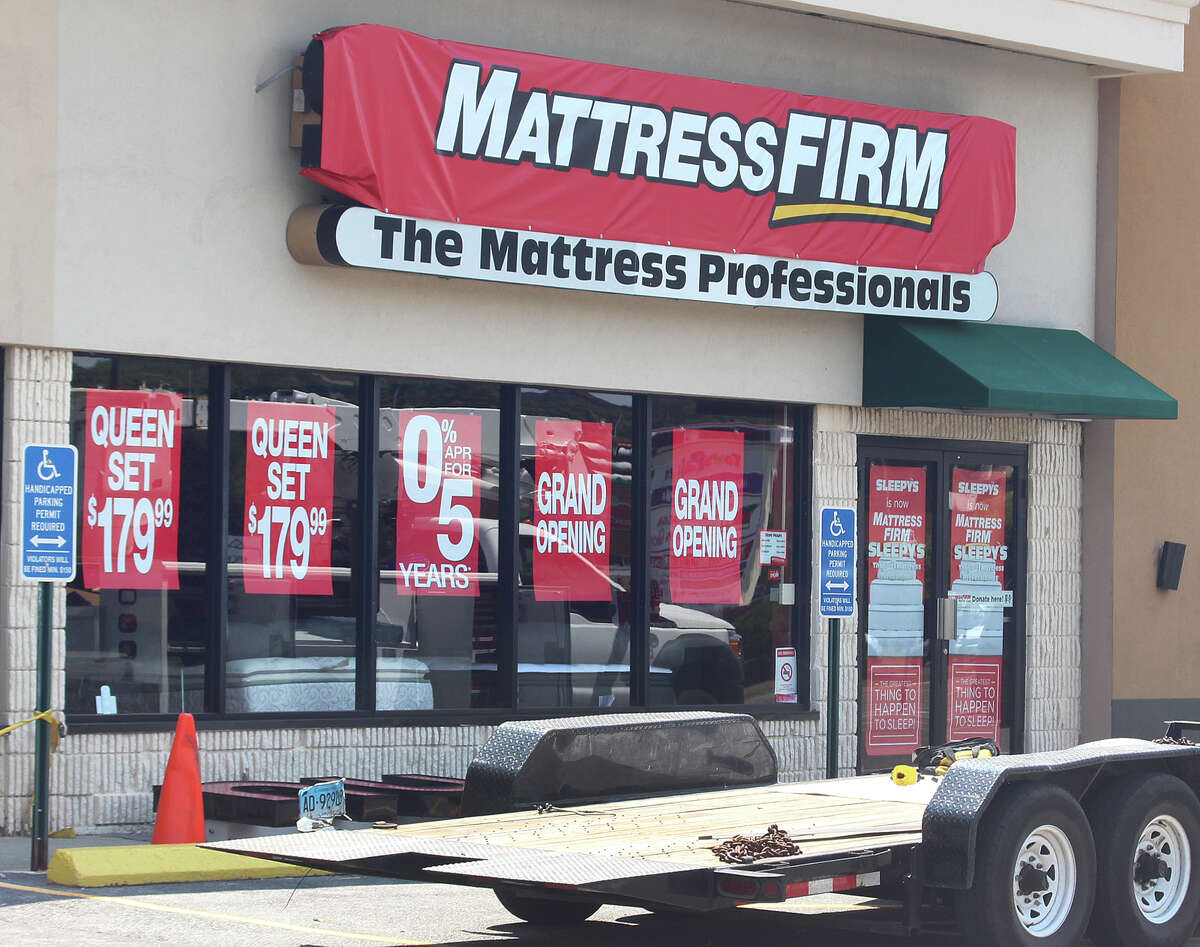 A former Sleepy's store in Danbury, Conn. under transition in late July 2016 to the Mattress Firm brand.