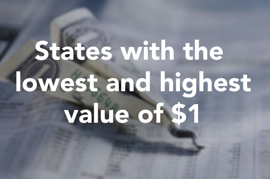Financial site 24/7 Wall St., used data from the Bureau of Economic Analysis to find out how far a dollar goes in each state. Click through the slideshow above to see the top 10 states with the lowest and highest values of a dollar and visit 24/7 Wall St. for the full report.  Photo: Getty Images