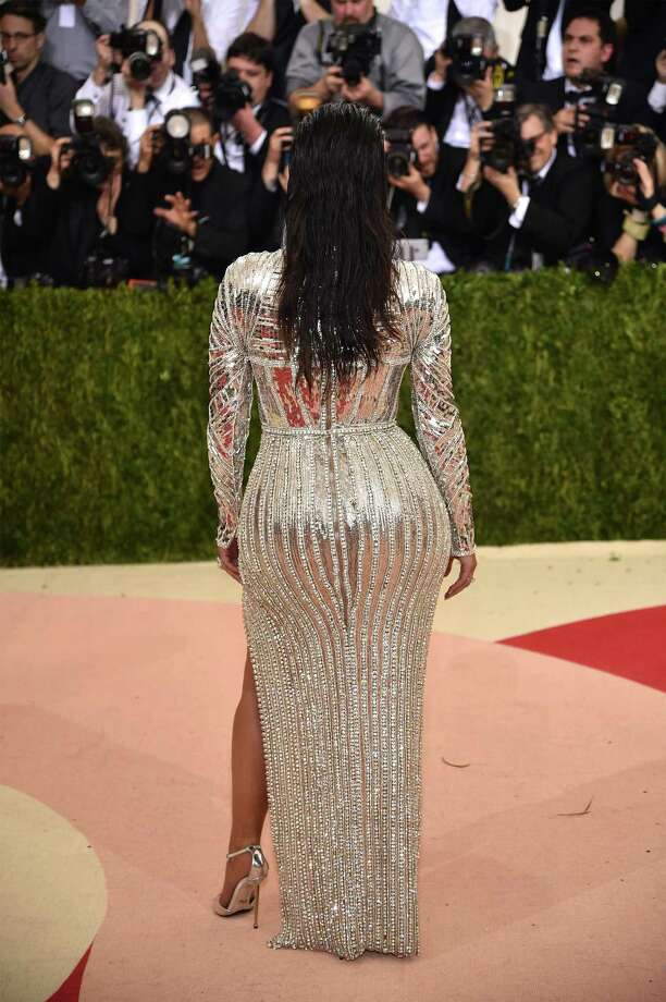 """Kim Kardashian West attends the """"Manus x Machina"""" Costume Institute Gala at New York City's Metropolitan Museum of Art in May. Kardashian and other celebrities with curvy figures are seen as a driving force in a major plastic surgery trend — buttock enhancements. Photo: Dimitrios Kambouris / Getty Images / 2016 Getty Images"""