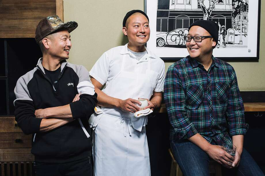 From left, David, Dennis and Daniel Lee, brothers and owners of Mission's Namu Gaji. Photo: Stephen Lam, Special To The Chronicle