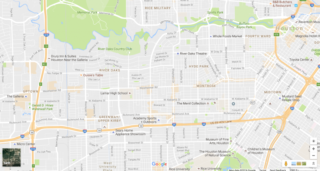 What the new Google Maps says about Houston ...