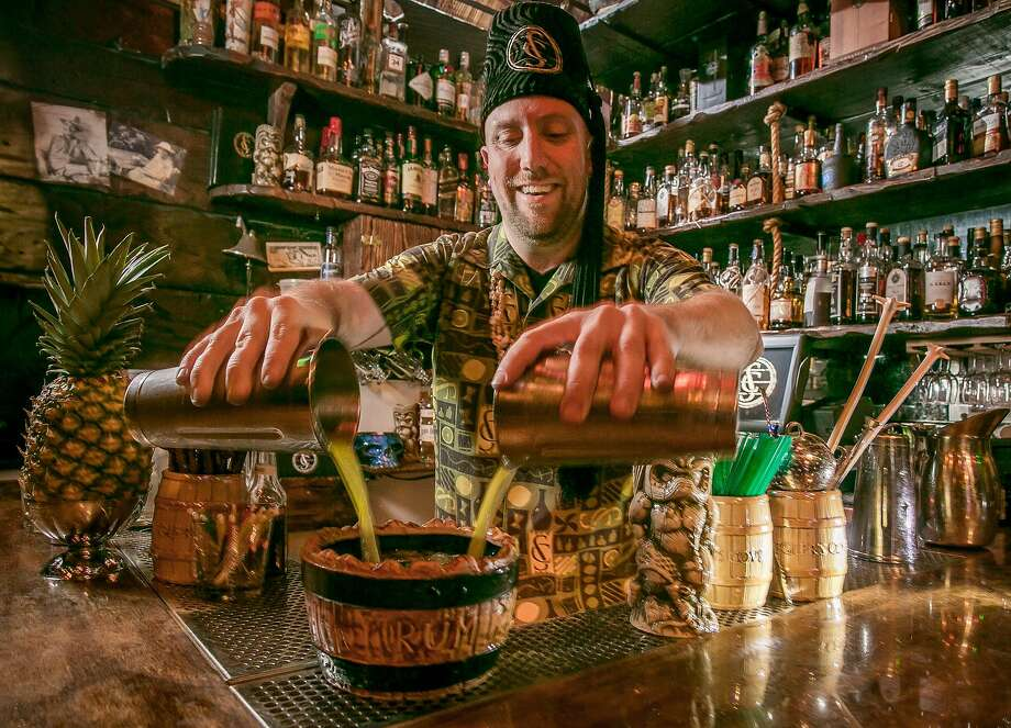 Bartender Martin Cate makes the Top Notch Volcano Punch at his Smuggler's Cove in S.F. Photo: John Storey, Special To The Chronicle