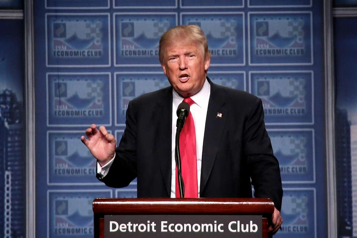 Republican nominee Donald Trump speaks to the Detroit Economic Club at Cobo Center on Monday. Click ahead to see which politicians and celebrities have endorsed Trump for president.