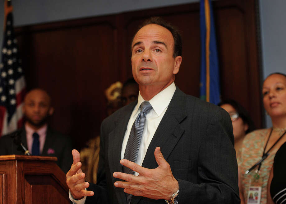 FILE: Bridgeport Mayor Ganim Monday called for Congress to pass stricture gun control laws. Ganim has credited Police Chief A.J. Perez with working aggressively to take illegal firearms off of the streets. Photo: Brian A. Pounds, Hearst Connecticut Media / Connecticut Post