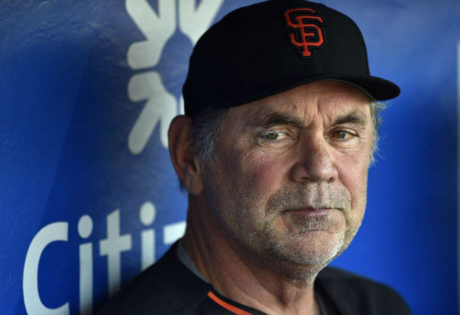 This Aug. 2, 2016 photo shows San Francisco Giants manager Bruce Bochy in the dugout prior to a baseball game against the Philadelphia Phillies in Philadelphia. Bochy has been admitted to a Miami hospital after falling ill and will miss the game against the Marlins on Monday, Aug. 8, 2016. (AP Photo/Derik Hamilton) Photo: Derik Hamilton, Associated Press