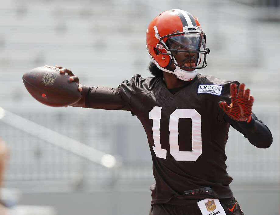 Robert Griffin III signed a two-year, $15 million contract with Cleveland in March. Photo: Jay LaPrete, Associated Press