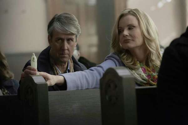 Alan Ruck and Geena Davis, The Exorcist | Photo Credits: Fox