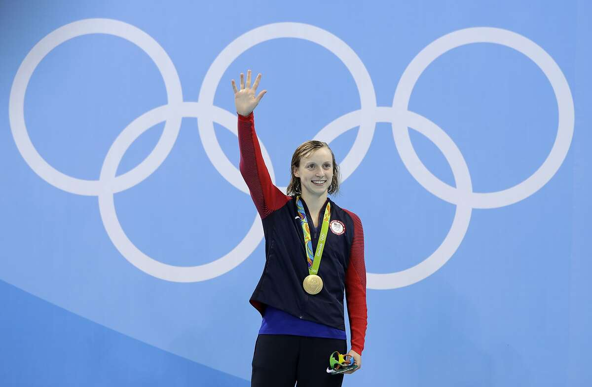 FROM STANFORD: Katie Ledecky : Gold in 200 free, gold in 400 free, gold in 800 free, gold in 800 free relay, silver in 400 free relay