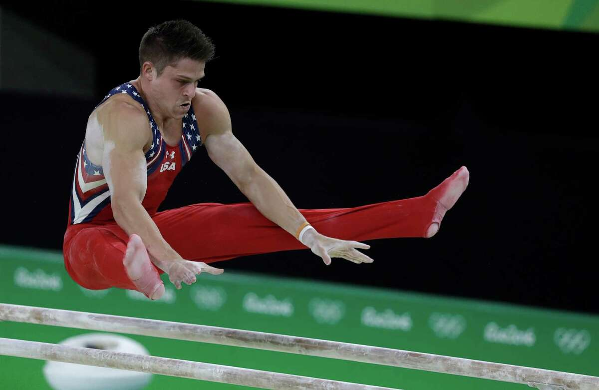 Chris Brooks of Houston was one of the steadier performers for the U.S. men, who slipped to fifth place Monday.