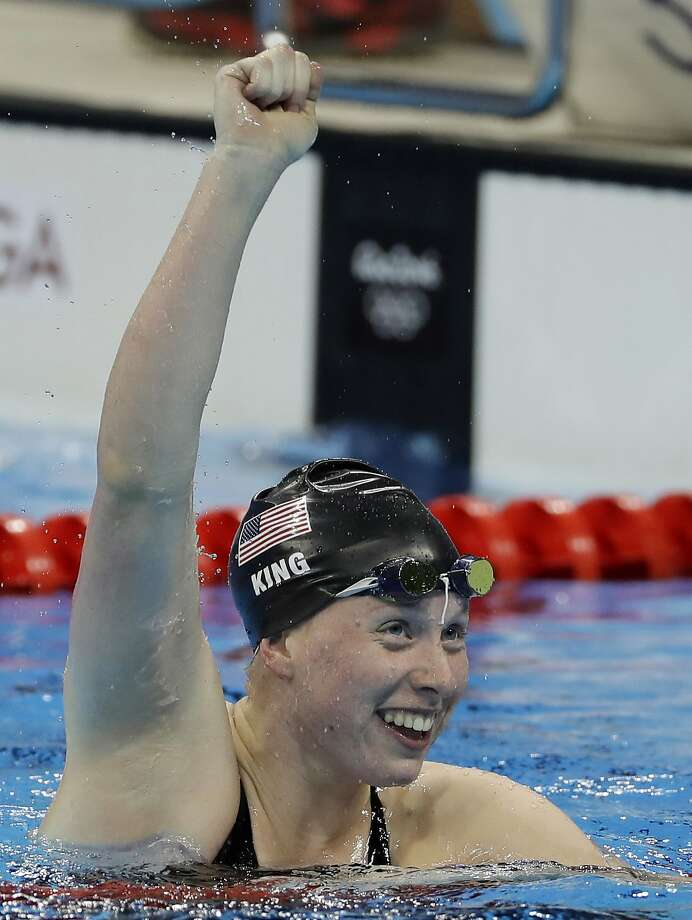 United States' Lilly King celebrates winning the gold medal in the women's 100-meter breaststroke during the swimming competitions at the 2016 Summer Olympics, Monday, Aug. 8, 2016, in Rio de Janeiro, Brazil. (AP Photo/Matt Slocum) Photo: Matt Slocum, Associated Press