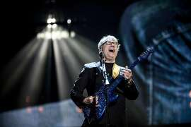 Steve Miller performs at the 31st annual Rock And Roll Hall of Fame Induction Ceremony at Barclays Center in New York, April 8, 2016. On Friday night, five acts were inducted: Cheap Trick, Chicago, Deep Purple and Steve Miller � all staples of classic rock, centered in the 1970s � and N.W.A, the gangsta-rap group whose story was told in the recent biopic �Straight Outta Compton.� (Chad Batka/The New York Times)