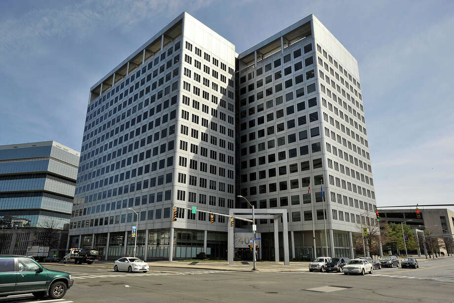 Charter Communications is headquartered at 400 Atlantic St., in Stamford. Photo: Jason Rearick / Jason Rearick / Stamford Advocate