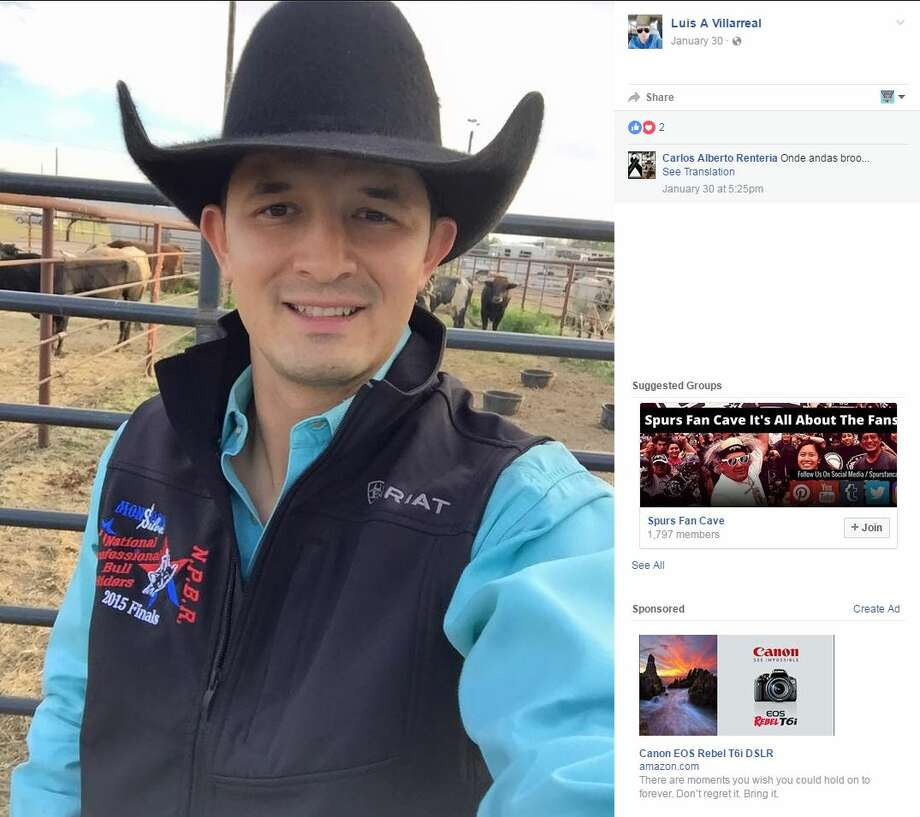 A professional bull rider from Mexico, Luis Alonso Villarreal Flores, who had previously competed in San Antonio in March was found with four gunshot wounds to his head on the side of the road last Wednesday. Photo: Facebook