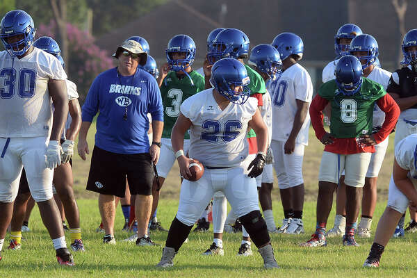 West Brook athletes line up for drills during practice on the school on Monday. Photo taken Monday, August 08, 2016 Guiseppe Barranco/The Enterprise