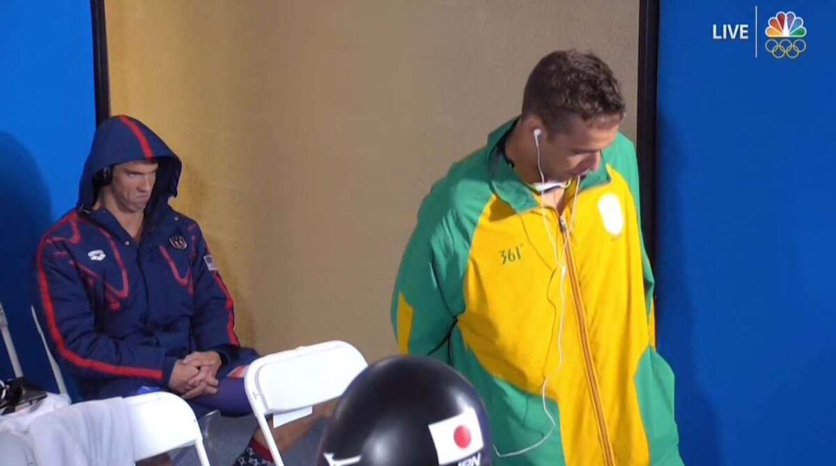 Michael Phelps did not seem amused by Chad le Clos' warmup ritual before their 200-meter butterfly semifinal Monday night.