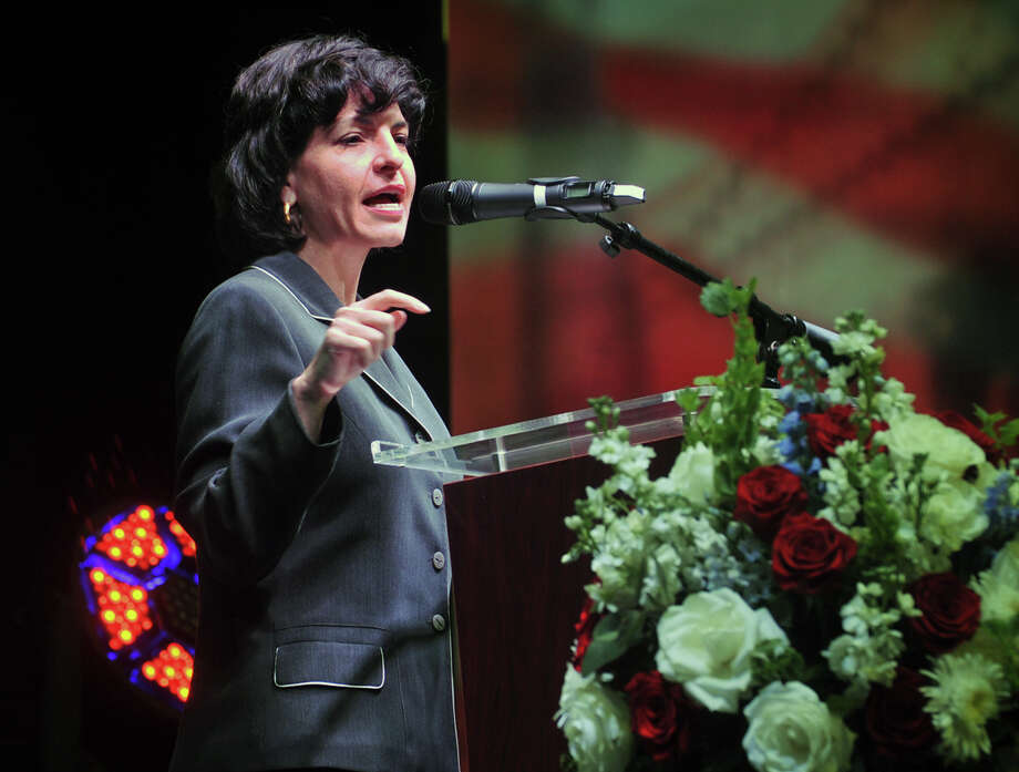 Texas Railroad Commissioner Christi Craddick  (Torin Halsey/Times Record News via AP)