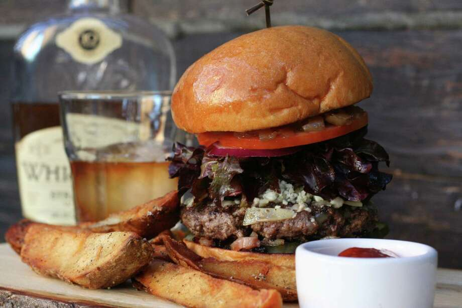 The Bosscat Burger from Bosscat Kitchen & Libations, a new restaurant and whiskey bar opening fall 2016 at 4310 Westheimer. Photo: Bosscat Kitchen & Libations