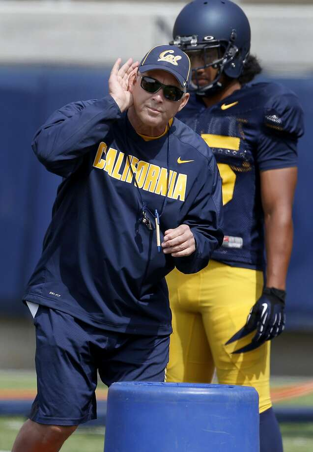New defensive coordinator Art Kaufman worked with some linebackers at a recent practice Tuesday August 12, 2014. The Cal football program is in training camp mode at Memorial Stadium as they prepare for the upcoming season. Photo: Brant Ward, San Francisco Chronicle