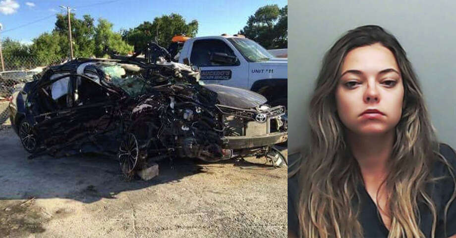 Shana Elliott, a 21-year-old senior at Texas State, was allegedly drunk when her car collided with a Bryan couple Aug. 2, 2016, on Highway 21 in San Marcos, killing a man and unborn child and hospitalizing a pregnant woman. Photo: Courtesy/Hays County Jail