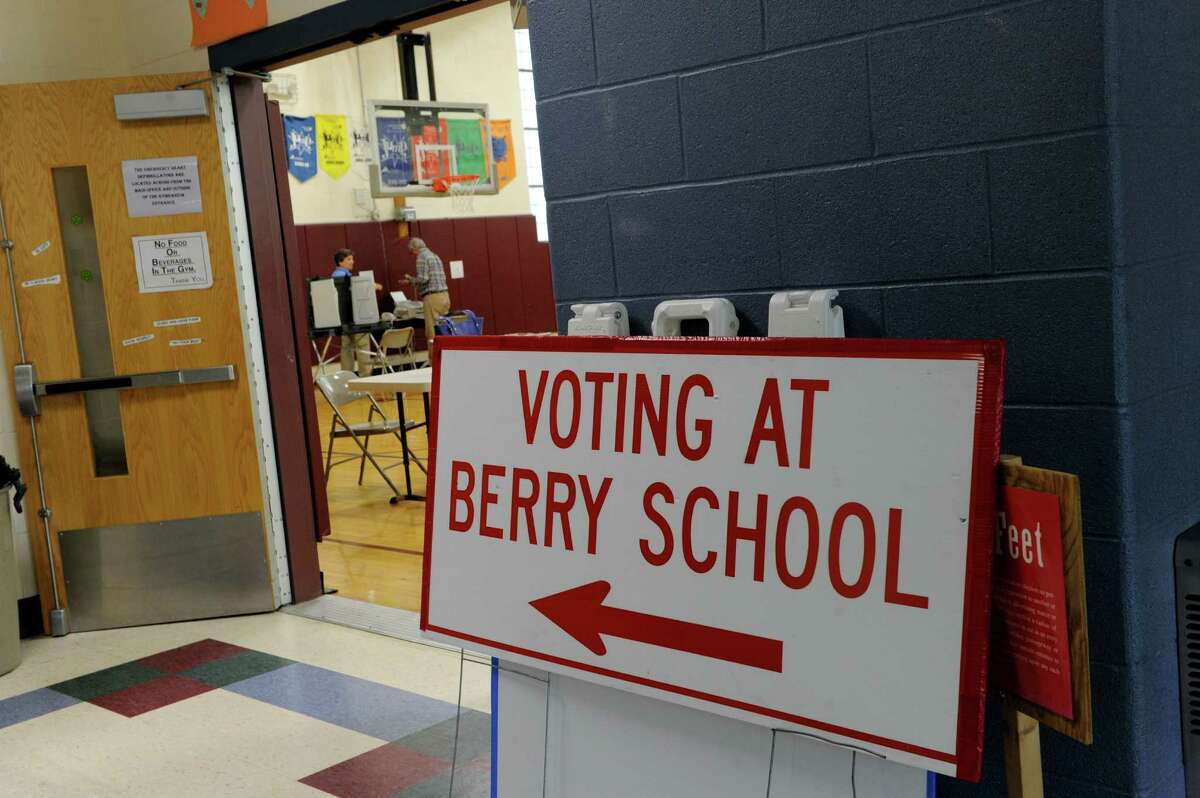 The Berry Elementary School in Bethel is one of several polling places preparing Monday, August 8, 2016, for Tuesday's Republican primary in the probate judge race.