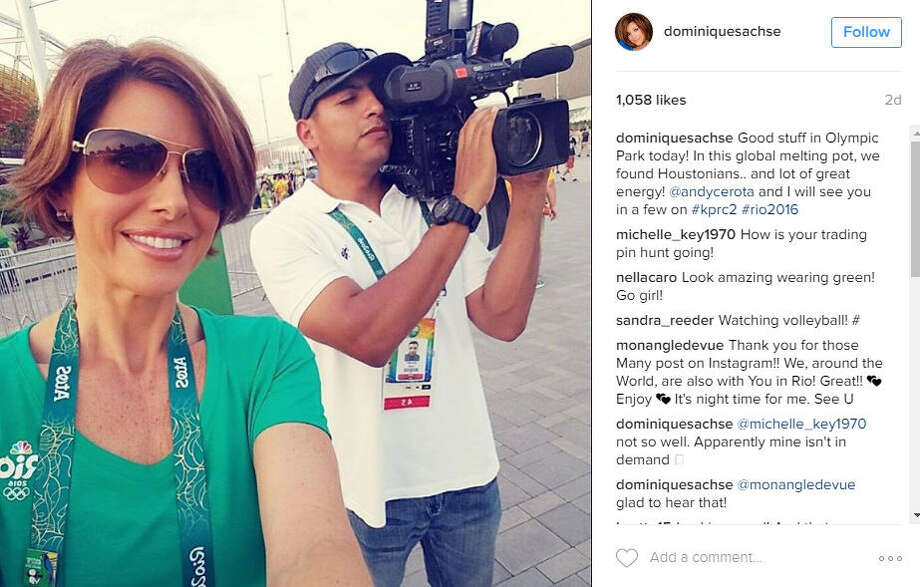 Channel 2 anchor  Dominique Sachse  is in Rio this summer covering the Olympics.
