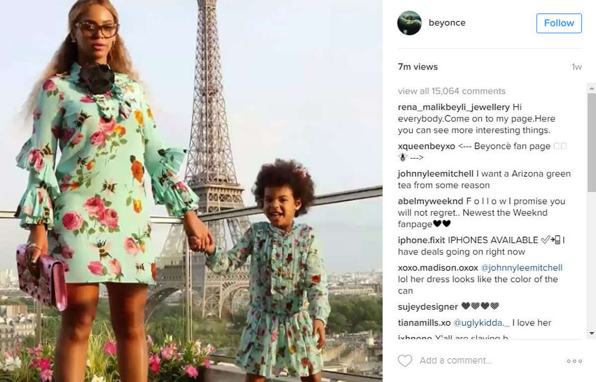 Houston-native superstar Beyonce went to Paris this summer, too. Photo: Instagram/Beyonce